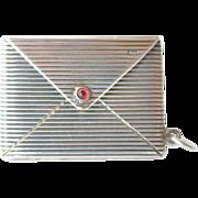 Silver ( .900 ) miniature envelope pendant, early 1900s.