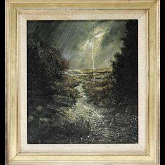 Landscape – F. Donald Fowler – Wetland Hailstorm