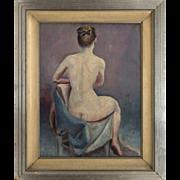 Seated Female Nude Oil on Canvas - Lyn Greene
