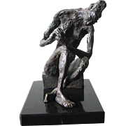 Composition Sculpture of Seated Nude - ANANDA F. WEISSMAN