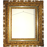 Large Antique Gilt Wood & Gesso Picture Frame