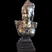 """""""Raphaella"""". Bronze Bust Signed Faure de Brousse"""