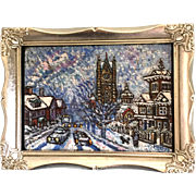 """St. Lawrence Martyr Church Snowfall"" by Milton H. Brightman"