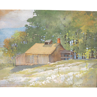 """""""The Old Sugar House"""" Watercolor, Helen P. Williams"""