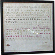 1864 Spanish Sampler - Antonia Vaibarri