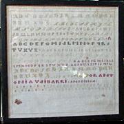 1864 Spanish Sampler - Antonia Vaibarri
