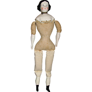 "16"" Tall Antique High Brow China Head Doll"