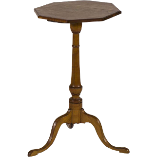 Antique American Queen Anne Candlestand Late 18th Century