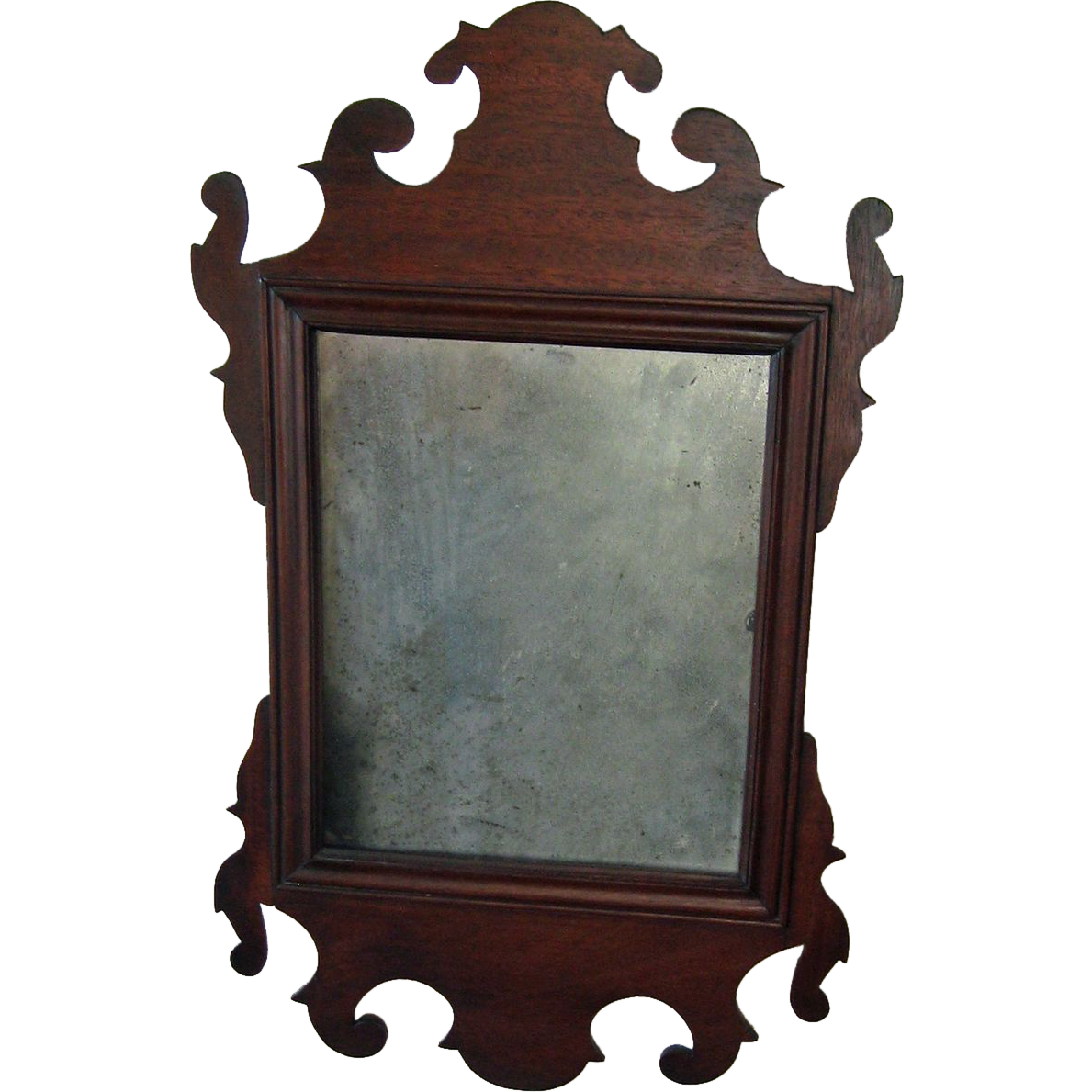 19th century mahogany antique chippendale style mirror for Old style mirror