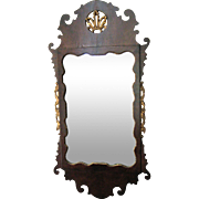 Antique Chippendale Mahogany Veneer Prince of Wales Mirror