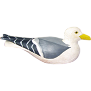 Miniature Carved Seagull by D. Bouchles