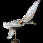 Vintage Folk Art Wooden Duck Whirligig