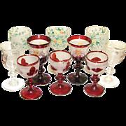 10 Assorted European Glass Cordials