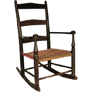 Antique Shaker Child's Rocking Armchair