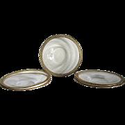 Six Venetian Glass – Under Plates – Tooled Gilt Rims
