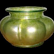 "4"" Loetz Diana Cisele Melon Shaped Bowl"