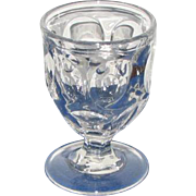 """ASHBURTON"" Pattern Clear Flint Glass Egg Cups"