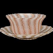 Boston & Sandwich Threaded Glass Finger Bowl