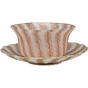 Boston & Sandwich Threaded Glass Finger Bowl & Underplate
