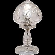 Vintage Cut Glass Boudoir Lamp