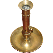 "8"" Tall Brass Push Up Candlestick"