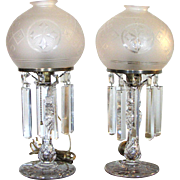 Two Pairpoint Cut Crystal Lamps