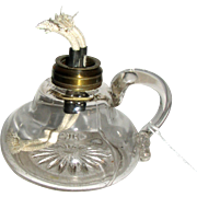 Large Pressed Glass Fluid Finger Lamp