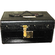 19th C. Leather Covered Document Box
