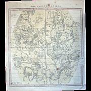 """Map V – """"The Constellations"""" – Burritt's Celestial Atlas 1856"""