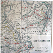Map of Missouri – Circa 1890 – Cram's Universal Atlas - Red Tag Sale Item