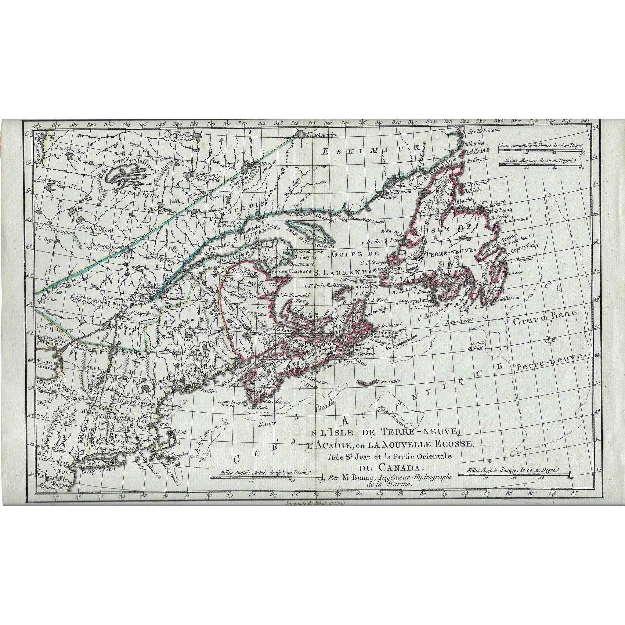 1787 Map of North America  Eastern Canada from vanbibber on Ruby Lane