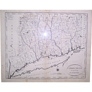 "1796 Map Of Connecticut by John Reid, ""From the Best Authorities"""