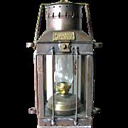 "Vintage English Ship Lantern – 'CARGO Light"" – 1939"