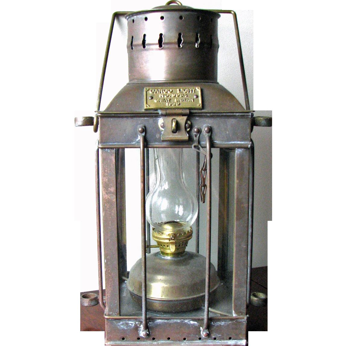 Vintage English Ship Lantern Cargo Light 1939 From
