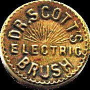 Brass Compass – Advertising – Dr. Scott's Electric Brush - Vintage