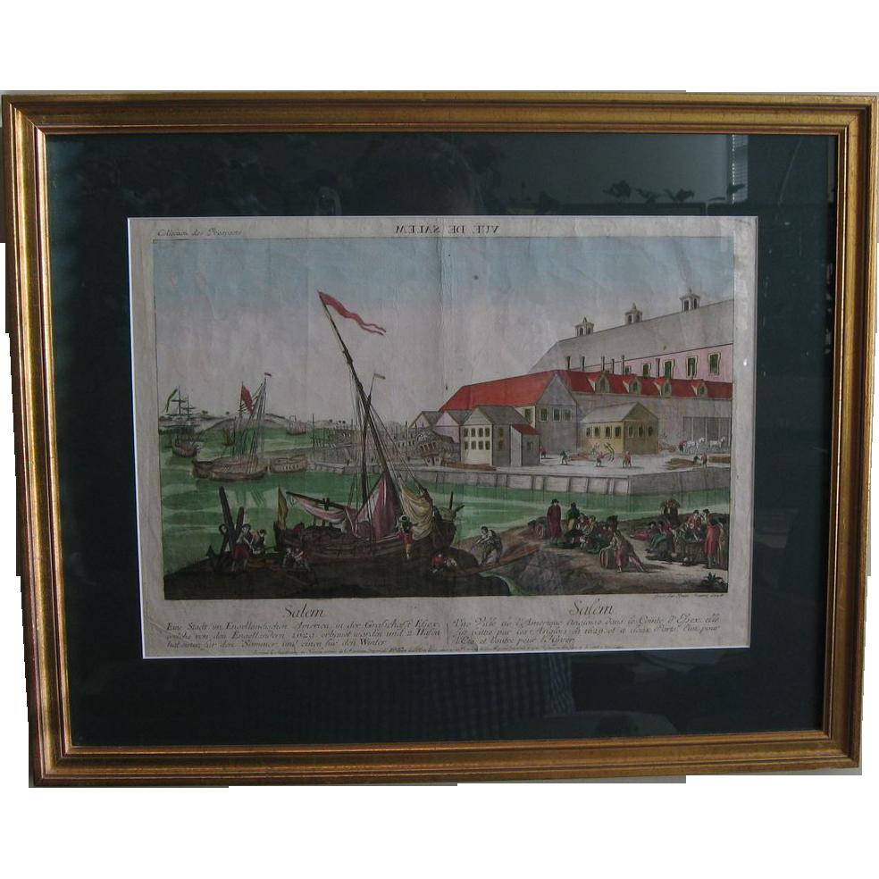 1750 View Of Salem Massachusetts From Vanbibber On Ruby Lane
