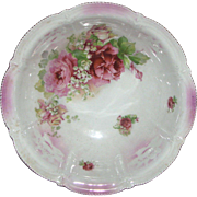 Vintage Unmarked Hand Painted Bowl