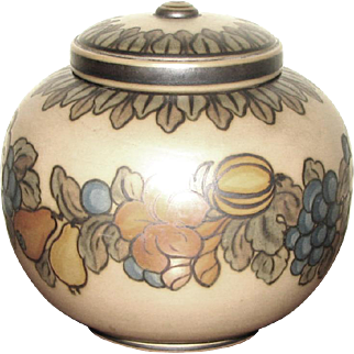 Early L. Hjorth Lidded Pot, CA 1927, Denmark