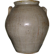 3 Gal. Antique Ovoid Bennington Stoneware Crock