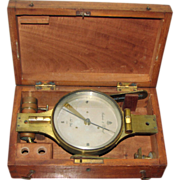 "Antique 10"" Surveyor's Compass by Stackpole & Brother, New York"