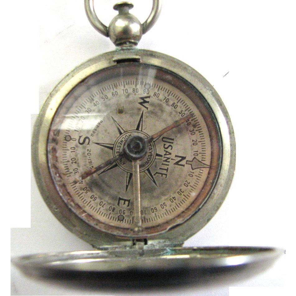 Vintage USANITE Pocket Compass Eng Dept