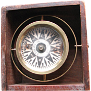 Antique S. Thaxter & Son, Boston, Dry Card Boxed Compass