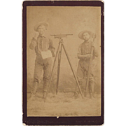 Framed Cabinet Photo of Two Land Surveyors Ca 1810