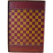 Large Antique Handpainted Game Board