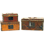 Three 19th Century Document Boxes