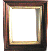 Small Gilt Decorated Victorian Picture Frame