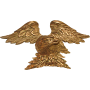 18th C. Carved Wooden Gilt American Eagle