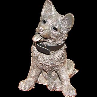 Comyns of London Sterling Silver Figure of German Shepherd