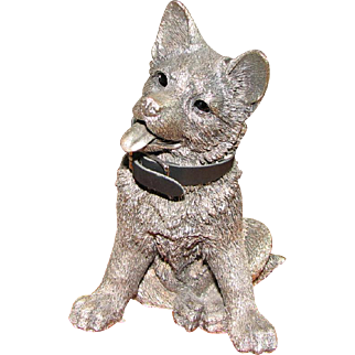 Comyns of London Sterling Silver Figure of German Shepherd