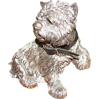 Sterling Silver Figure of West Highland Terrier - Comyns of London